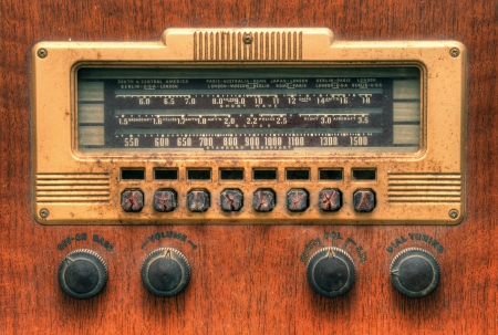 antique radio dial Stock Photo - 14241060
