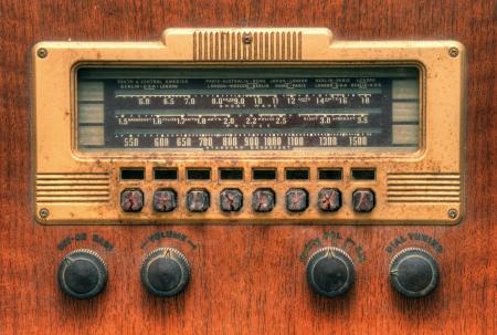 radio station: antique radio dial