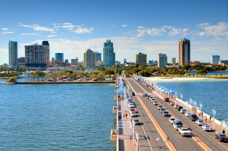 pinellas: Skyline of St. Petersburg, Florida