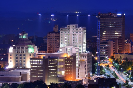 notable: Downtown Asheville, North Carolinas city hall and courthouse building among other notable structures.