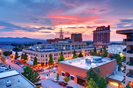 Downtown Asheville, North Carolina at Grove Arcade
