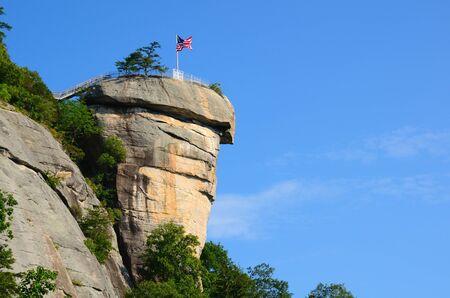 north woods: Chimney Rock at Chimney Rock State Park in North Carolina, USA. Stock Photo