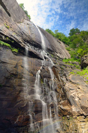 Hickory Nut Falls in Chimney Rock State Park, North Carolina. photo