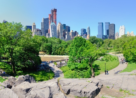 south park: skyline of Central Park South in New York City Editorial
