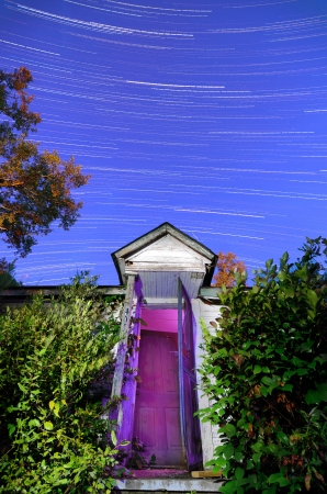 stars over an old spooky house Stock Photo - 14241061