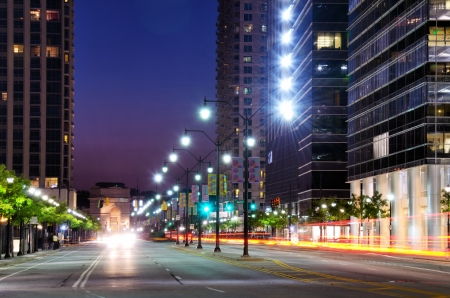 midtown: Cityscape along 17th Street in Atlanta, Georgia, USA Stock Photo