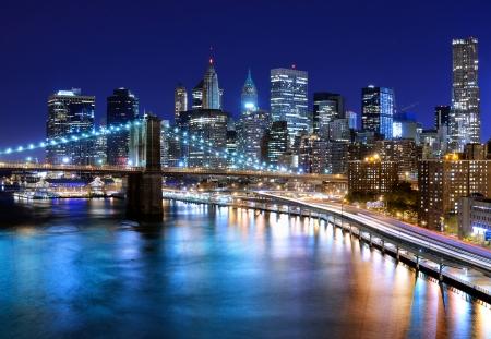 Skyline van het centrum van New York, New York, Verenigde Staten Stockfoto