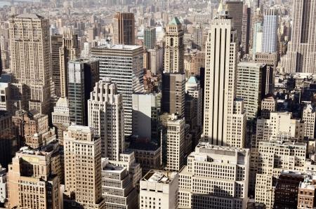 skylines: Skyline of downtown New York, New York, USA