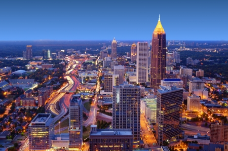 Skyline der Innenstadt von Atlanta, Georgia, USA