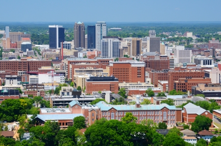 alabama: Skyline of downtown Birmingham, Alabama, USA.