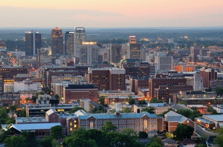 alabama: Skyline of downtown Birmingham, Alabama, USA  Stock Photo