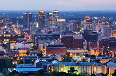 alabama: Metropolitan Skyline of downtown Birmingham, Alabama, USA