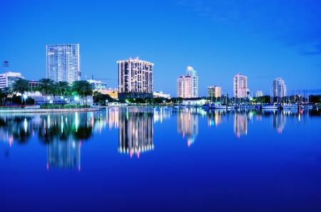 pinellas: Skyline of St  Petersburg, Florida