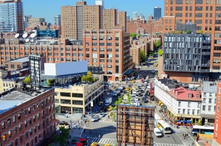 chelsea: Chelsea neighborhood of Manhattan viewed from abovew