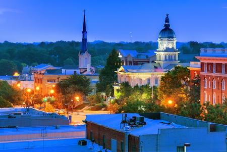 athens: downtown view of athens, georgia, usa