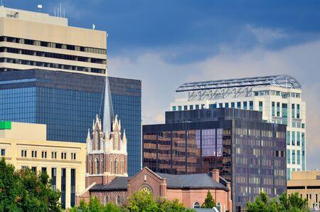 columbia: Buildings in downtown Columbia, South Carolina, USA.