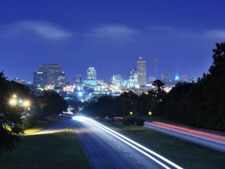 south carolina: Skyline of downtown Columbia, South Carolina from above Jarvis Kaplan Blvd.