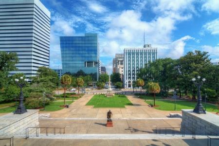 columbia: Skyline of downtown Columbia, South Carolina on Main Sreet. Editorial