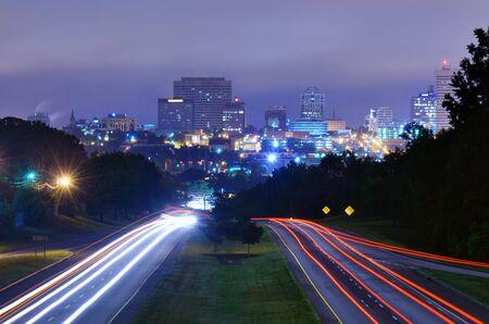 blvd: Skyline of downtown Columbia, South Carolina from above Jarvis Kaplan Blvd.