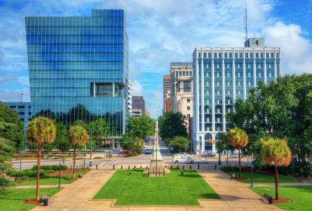 main street: Skyline of downtown Columbia, South Carolina on Main Sreet. Editorial