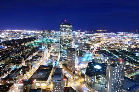 Downtown Boston Aerial View photo