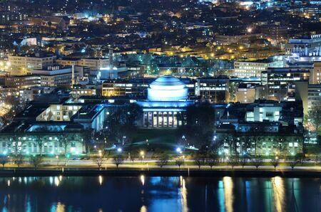 nightime: Nightime view of Cambridge, Massachusetts Stock Photo
