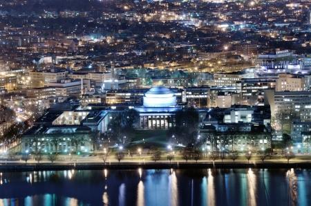 nightime: Nightime view of Cambridge, Massachusetts Editorial