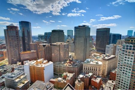 boston skyline: Buildings in downtown Boston Massachusetts