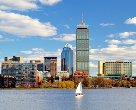 boston skyline: Boston Back Bay Skyline Editorial