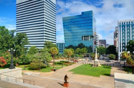 columbia: Skyline of downtown Columbia, South Carolina on Main Sreet  Stock Photo