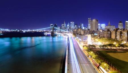 downtown new york city skyline photo
