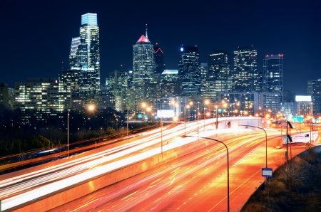 Downtown Skyline of Philadelphia, Pennsylvania