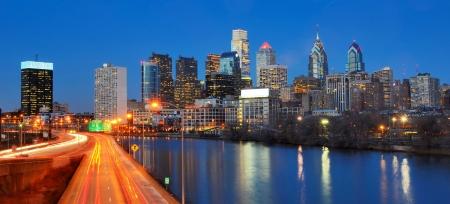 필라델피아, 펜실베이니아의 다운 타운의 스카이 라인 스톡 콘텐츠