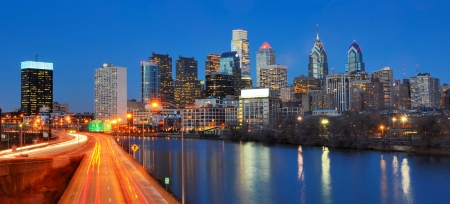 Downtown Skyline of Philadelphia, Pennsylvania Imagens - 14681175