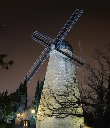 israelis: Montefiore Windmill in Jerusalem, Israel
