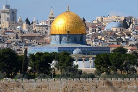 Dome of the Rock in Jerusalem, Israel 版權商用圖片