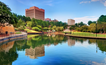Finlay Park in Columbia, South Carolina  Stock Photo - 14671100