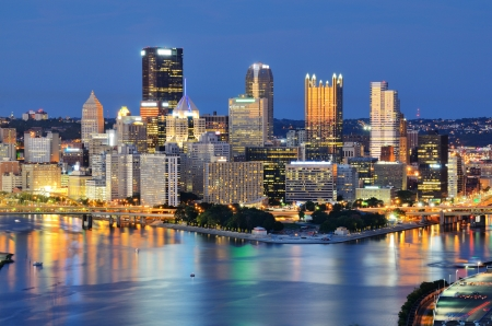 Skyscrapers in downtown PIttsburgh, Pennsylvania, USA