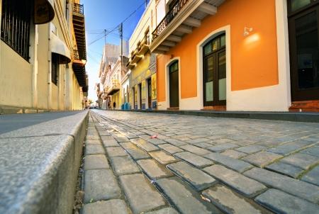 san juan: Cobblestone Streets in the Old City of San Juan, Puerto Rico