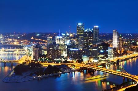 Wolkenkrabbers in het centrum van Pittsburgh, Pennsylvania, Verenigde Staten