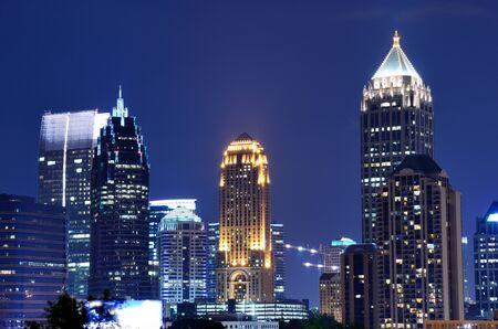 georgia: Buildings in downtown Atlanta, Georgia Stock Photo