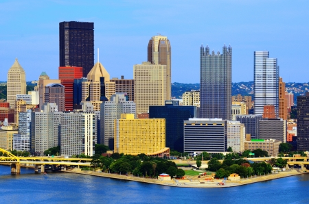 pa: Skyscrapers in downtown PIttsburgh, Pennsylvania, USA