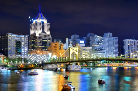 Skyscrapers in downtown PIttsburgh, Pennsylvania, USA Stock Photo - 14842447