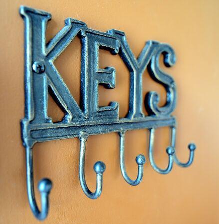 벽걸이 열쇠 고리 홀더 스톡 콘텐츠