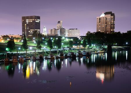 Downtown Augusta, Georgia sits on the Savannah River and is the second most populous city in the state with nearly 200,000 residentis. Stock Photo - 14922880