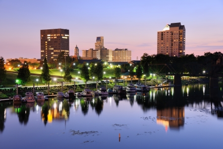 Downtown Augusta, Georgia sits on the Savannah River and is the second most populous city in the state with nearly 200,000 residentis. Stock Photo - 14922876