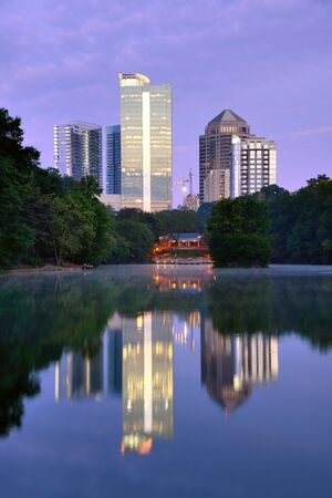Midtown Atlanta, Georgia Skyline from Piedmont Park Stock Photo - 14922890