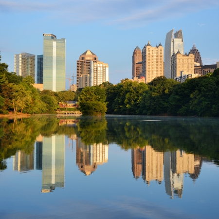 Midtown skyline as seen from Piedmont Park in Atlanta, Georgia, USA Stock Photo - 14922850