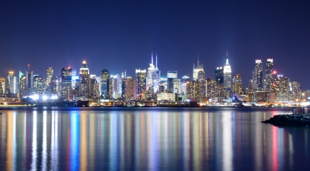Skyline and modern office buildings of Midtown Manhattan viewed from across the Hudson River Stock Photo - 14922578