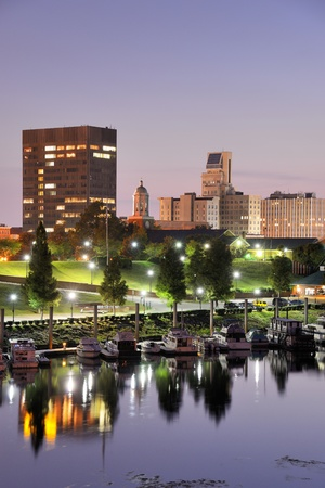 populous: Downtown Augusta, Georgia sits on the Savannah River and is the second most populous city in the state with nearly 200,000 residentis  Stock Photo